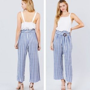⭐️Contrast Jumpsuit⭐️ Striped and solid
